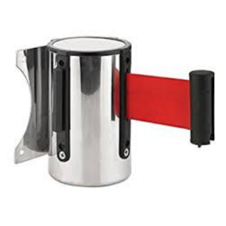 Head only Wall Mount Retractable Queuing Stanchion