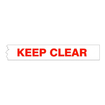 Keep Clear Non Adhesive Barrier Tape 75mm x 300 Metres