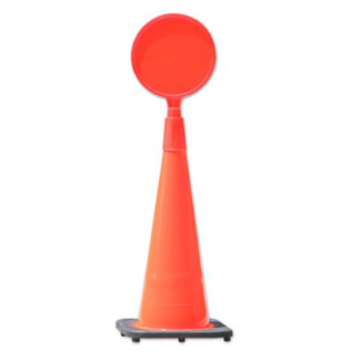 Assemble Traffic Cone Round Sign