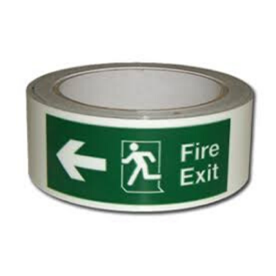 Fire Exit Tape 50mm Each