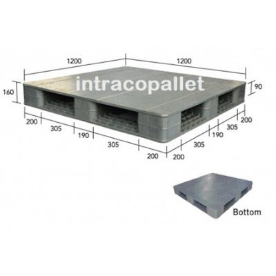5 x Plastic Warehouse Pallet - Flat Surface Single-Sided