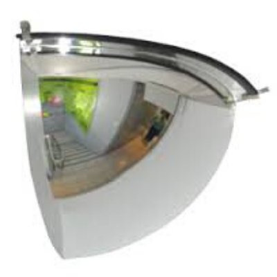 Dome Mirror 13cm (One eighth Sphere)