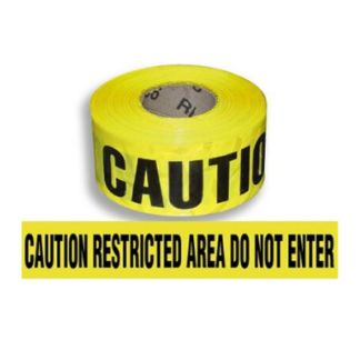 Caution Restricted Area Tape